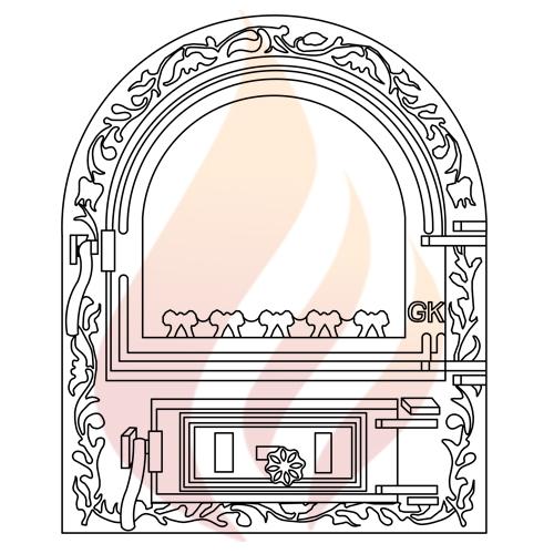 Дверца печная со стеклом