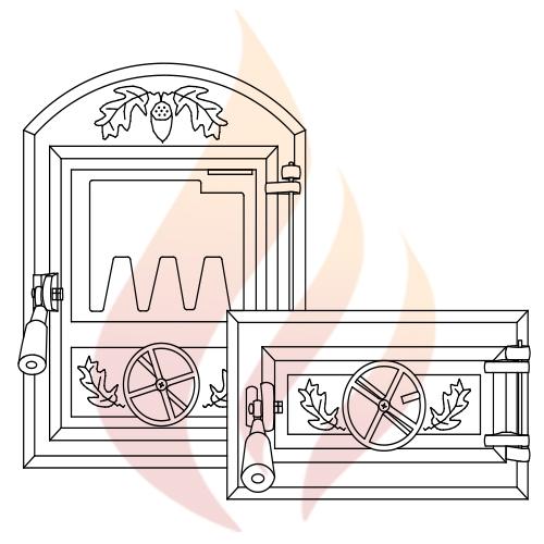 Дверцы топочные и поддувальные