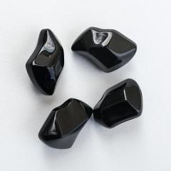 Чорні декоративні камені KRATKI до біокамінів  фото
