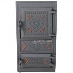 """Дверцята для печі без скла """"Вишиванка"""" 270х500 фото"""