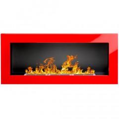 Біокамін Globmetal 900x400 червоний глянець фото