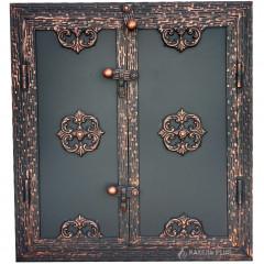 Дверцята для коптильні RIVERA bronz 500x700 з вогнетривкої сталі фото