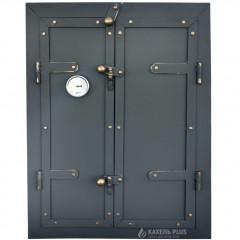 Дверцята для коптильні TORRES 500x700 утеплені з вогнетривкої сталі фото