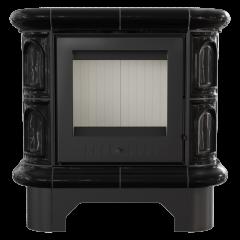 Кахельна піч-камін Kratki WK 440 чорна фото