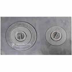 Плита чавунна із двома канфорками ПД-2, 580х340 мм фото
