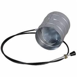 Дросельна заслінка для регулювання подачі повітря Ø150 фото