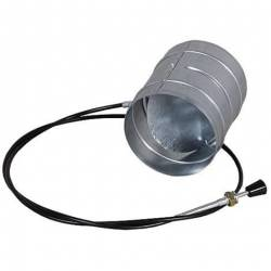 Дросельна заслінка для регулювання подачі повітря Ø125 фото