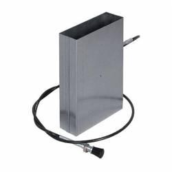 Дросельна заслінка для регулювання витрати повітря прямокутних каналів 150X50 мм фото