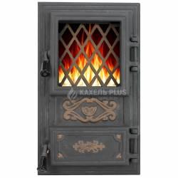 """Дверцята для печі зі склом """"Classic"""" 310х520 фото"""