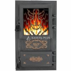 """Дверцята для печі зі склом """"Wolf"""" 310х520 фото"""