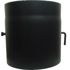 Шибер для дымохода (2 мм) Ø220 с крючком фото