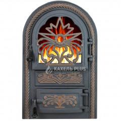 """Дверца печная со стеклом """"Elit"""" 340х540 фото"""