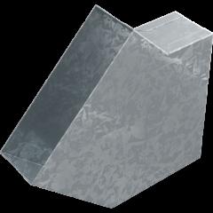 Колено 45° Kratki прямоугольное для плоских каналов фото