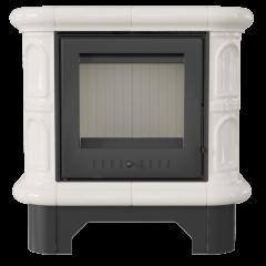 Кафельная печь-камин Kratki WK 440 кремовая фото