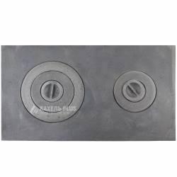 Плита чугунная двухконфорочная ПД-3, 710х410 мм фото